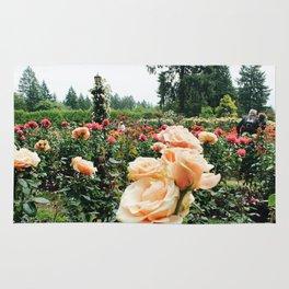 Couple at International Rose Test Garden Rug