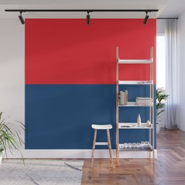 Half-and-Half in Red and Navy Wall Mural