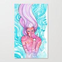 luna Canvas Prints featuring Luna by Verismaya