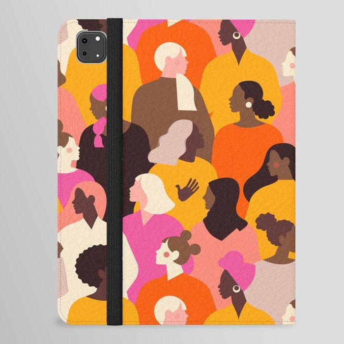 Female diverse faces pink iPad Folio Case