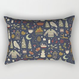 Winter Nights Rectangular Pillow