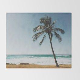 By the Beach  Throw Blanket