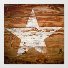 Faded Star Canvas Print
