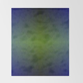 Black Blue Green Ombre Flames Horizon Throw Blanket