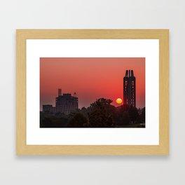 Kansas University Skyline Red Dawn Sunrise Framed Art Print