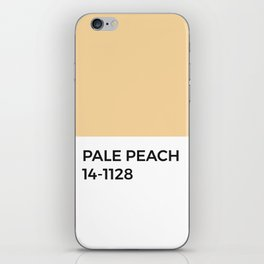 Pale Peach Pastel Orange Pantone Chip iPhone Skin