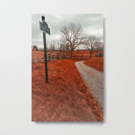 Bloody Red Lane Metal Print