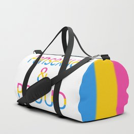 Pansexual and Proud (white bg) Duffle Bag