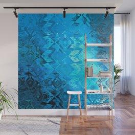Edged Momentum (blue) Wall Mural
