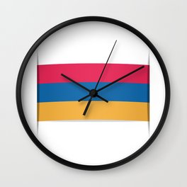 Flag of Armenia. The slit in the paper with shadows.  Wall Clock