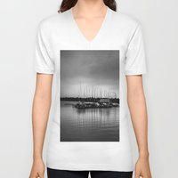 boats V-neck T-shirts featuring Boats by Sofleecori