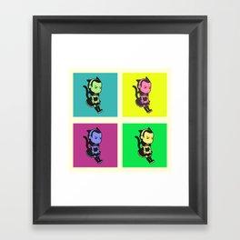 Cat-Maid Loki Pop Framed Art Print