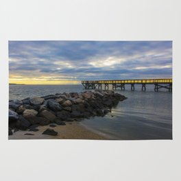 Yorktown Fishing Pier at Sunrise Rug