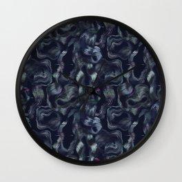 Neon glitch seamless pattern Wall Clock