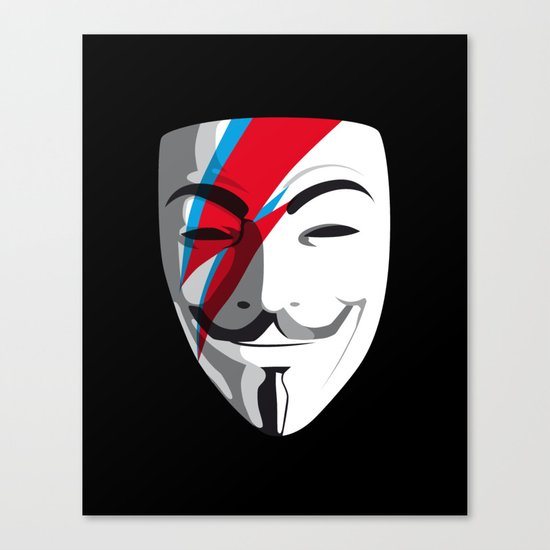 Who wants to be Anonymous? Let's be Fabulous! Viggy Starfawkes. Canvas Print