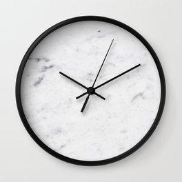 White Marble #1 #texture #marble #decor #art #society6 Wall Clock