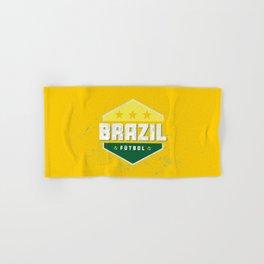 Brazil World Futbol Soccer Hand & Bath Towel