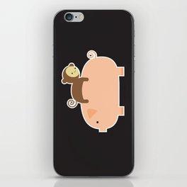 Baby Monkey (Black Bg) iPhone Skin