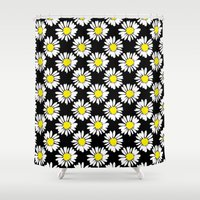 daisies Shower Curtains featuring Daisies by Ornaart