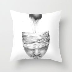 get your head out of the covers... Throw Pillow