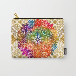 Bohemian 1960's Mandala Pattern of Peace Carry-All Pouch