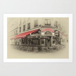 Au Brasseur Art Print
