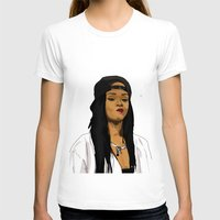 rihanna T-shirts featuring Rihanna by MikeHanz
