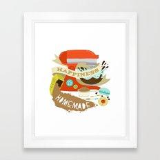 Happiness is Homemade Framed Art Print