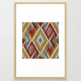 kilim rug pattern Framed Art Print