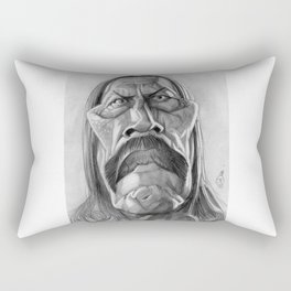 Danny Trejo, caricature. Rectangular Pillow