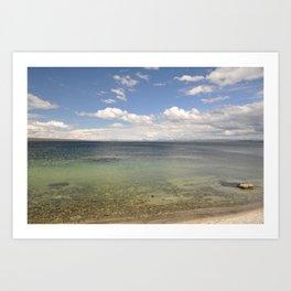 Lake Yellowstone Art Print