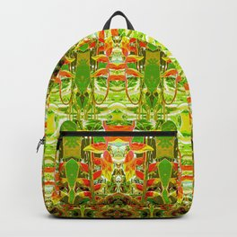 Heliconia Red Claws Pattern Backpack