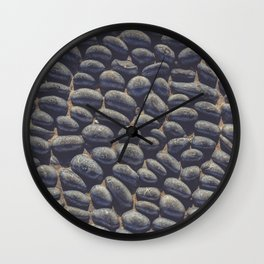 Black Pebble Wall Clock