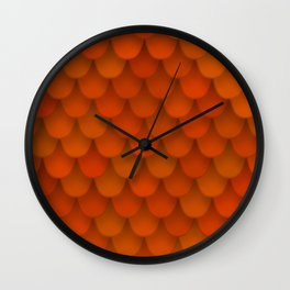 seamless pattern with roof tile Wall Clock