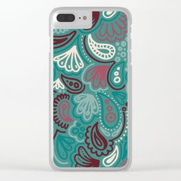 Abstract Batik Pattern III Clear iPhone Case