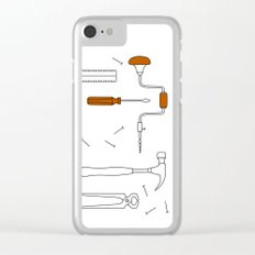 Carpenter Tools Clear iPhone Case