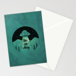"""Take Me Away"" UFO (Colour) Stationery Cards"
