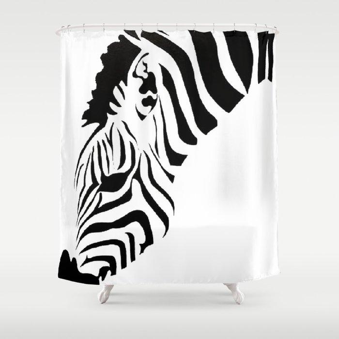 Grazing Zebra Shower Curtain