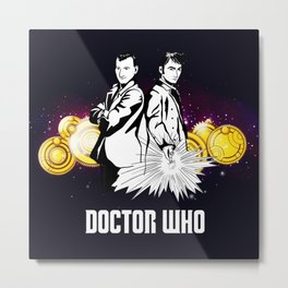 Doctor Who With Gallifrey Steampunk Metal Print