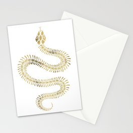 Snake Skeleton – Gold Stationery Cards