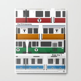 ride the T poster Metal Print
