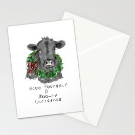 Merry Christmas Cow Stationery Cards