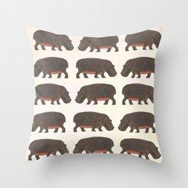 Hippo,hippo Throw Pillow