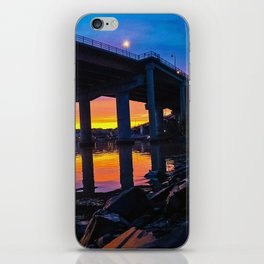 Spring Sunset by the Casco Bay Bridge iPhone Skin