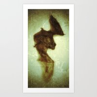 little bat Art Print