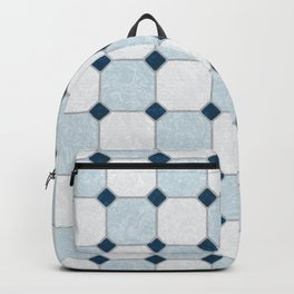Sky Blue Classic Floor Tile Texture Backpack