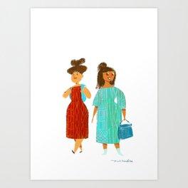 Tourists in Europe Art Print