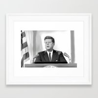 jfk Framed Art Prints featuring JFK by Darkhorse