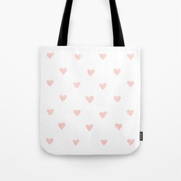 Pink hearts watercolor Tote Bag