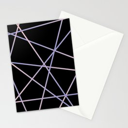 Lines 92 - in pink, purple on black Stationery Cards